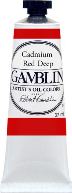 376161, Gamblin Artists Oil, Cadmium Red Deep, 37ml