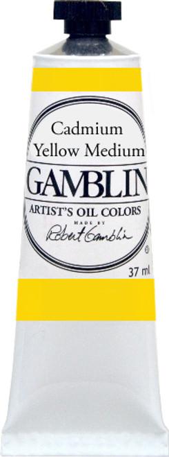 376163, Gamblin Artists Oil, Cadmium Yellow Medium, 37ml