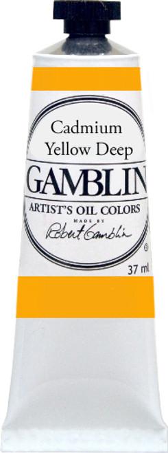 376164, Gamblin Artists Oil, Cadmium Yellow Deep, 37ml