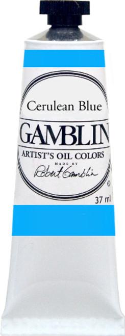 376166, Gamblin Artists Oil, Cerulean Blue, 37ml