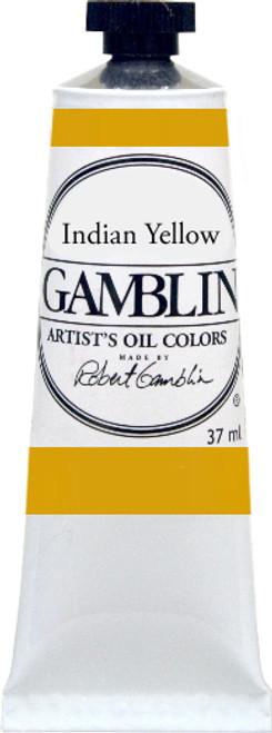 376178, Gamblin Artists Oil, Indian Yellow, 37ml