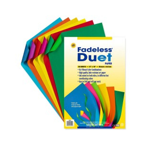 "341722, Fadeless Duet Paper, Assorted, 12""x18"", 30/sheets"