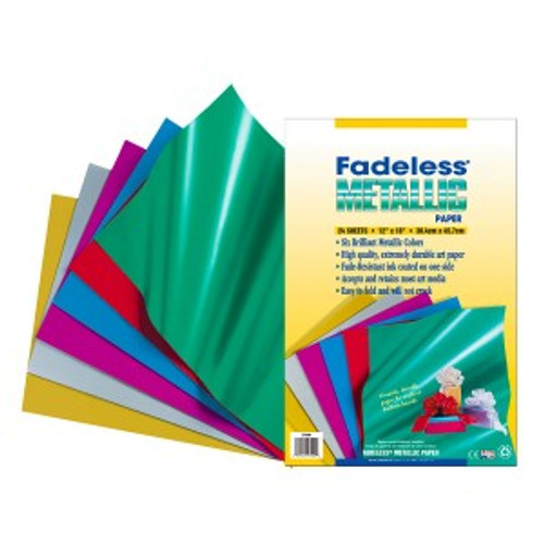 "341723, Fadeless Metallic Paper, Assorted, 12""x18"", 24/sheets"