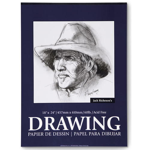 "341286, Richeson Drawing Paper, 18""x24"",  60lb. Acid Free, 100 sheets"