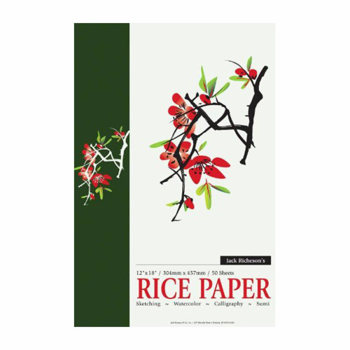 "341247, Richeson Rice Paper, 12""x18"" pad 50 sheets"