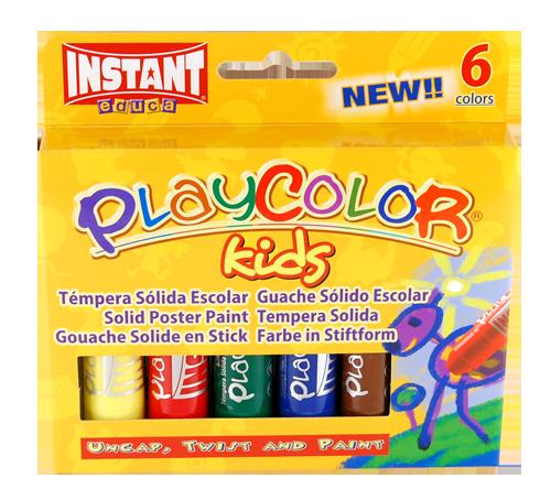 374425, PlayColor Kids Set Tempera, Set of 6
