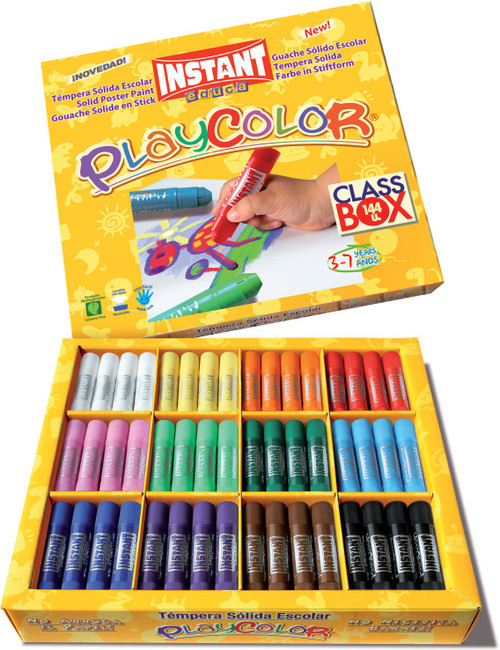 374427, PlayColor Kids Set Tempera, Classpack 144 ct.