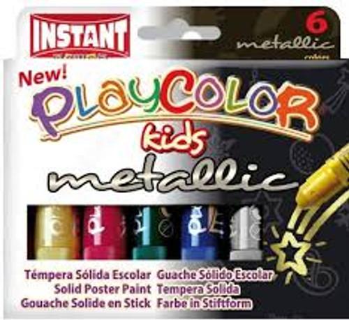 374430, PlayColor Metallic Set Tempera, Set of 6