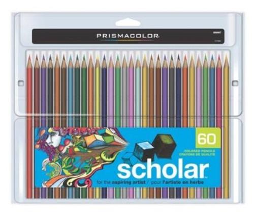 """446184, Prismacolor """"Scholar"""" Art Pencils, 60 color Set"""
