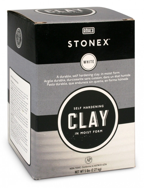 617721, Stonex Self-Hardening Clay, 25 lb. box