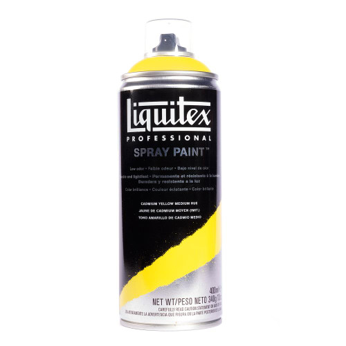 371534, Liquitex Professional Spray Paint,  400 ml,  Cadmium Yellow Medium Hue
