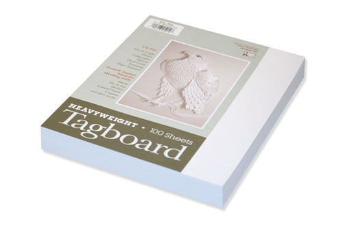 """342808, Tagboard, White, 9""""x12"""", Heavy Weight"""