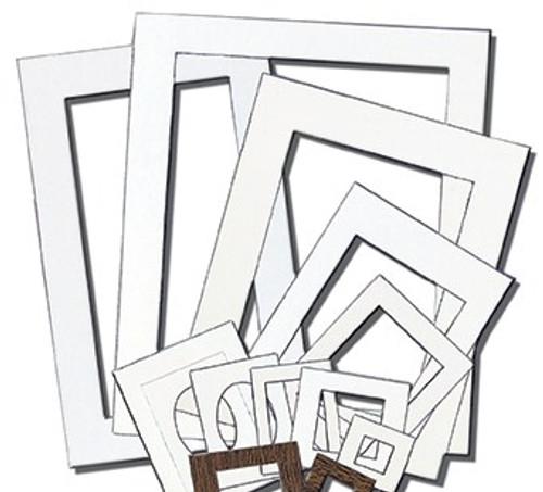 343200, Pre-Cut Mat, White, Assorted Sizes, 60/mats