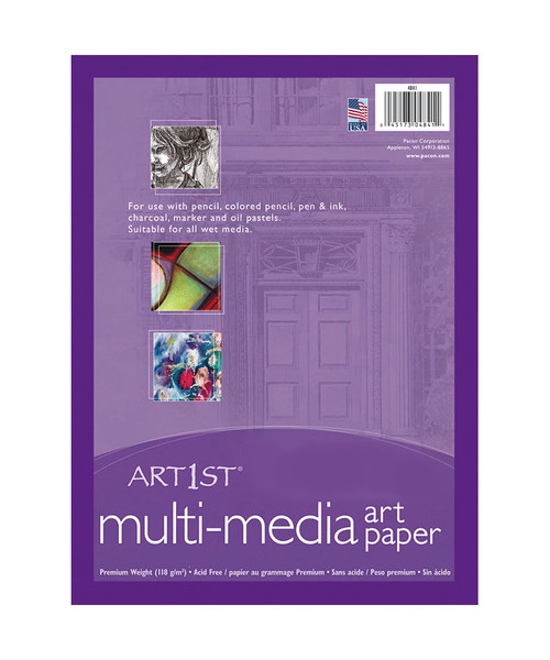 "314335, Art1st Multi Media Paper, 9"" x 12"", 500 sheets"