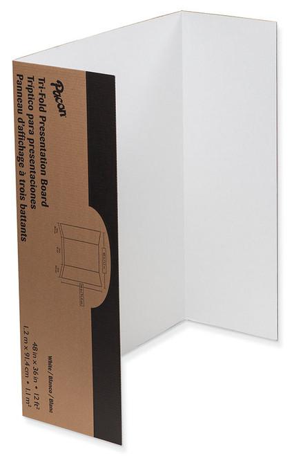"342415, Tri-Fold Presentation Board, White, 48""x36"""