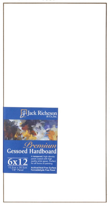 "364805, WHITE  1/8"" GESSO HARDBOARD PANEL, 6""x 12""              each"