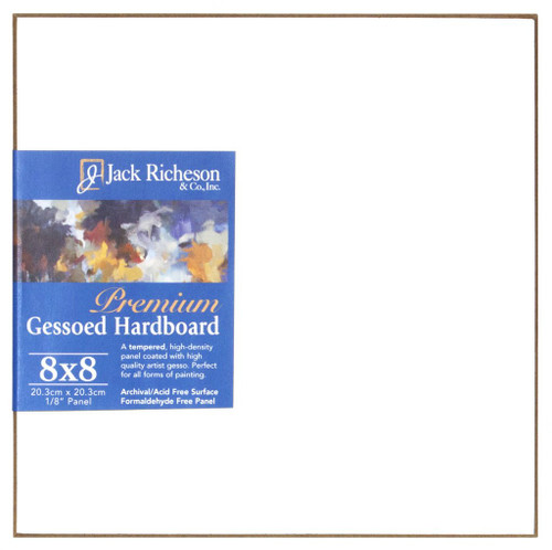 "364806, WHITE  1/8"" GESSO HARDBOARD PANEL,  8""x 8""              each"