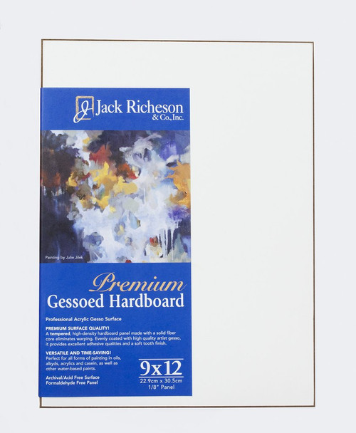 "364808, WHITE  1/8"" GESSO HARDBOARD PANEL , 9""x 12""              each"
