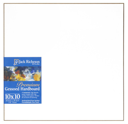 "364809, WHITE  1/8"" GESSO HARDBOARD PANEL, 10""x 10""              each"