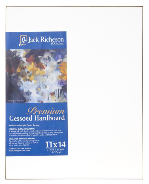 "364810, WHITE  1/8"" GESSO HARDBOARD PANEL, 11""x 14""              each"
