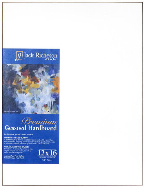 "364812, WHITE  1/8"" GESSO HARDBOARD PANEL, 12""x 16""              each"