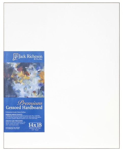 "364814, WHITE  1/8"" GESSO HARDBOARD PANEL, 14""x 18""              each"