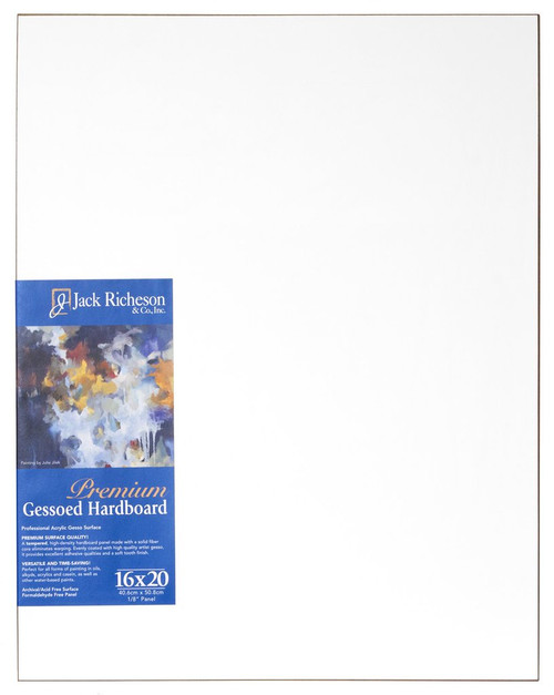"364815, WHITE  1/8"" GESSO HARDBOARD PANEL, 16""x 20""              each"