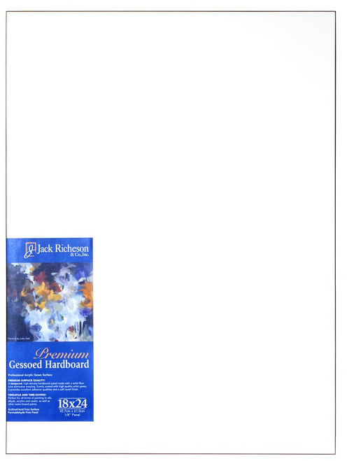 "364816, WHITE  1/8"" GESSO HARDBOARD PANEL, 18""x 24""              each"