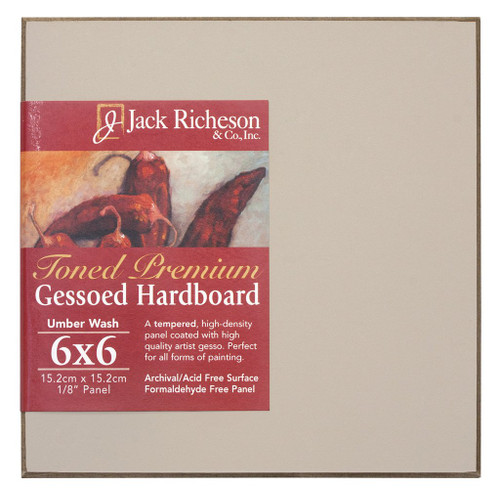 "364923, UMBER  Wash  1/8"" GESSO HARDBOARD PANEL, 6""x 6""              each"