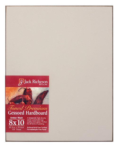 "364927, UMBER  Wash  1/8"" GESSO HARDBOARD PANEL, 8""x 10""              each"
