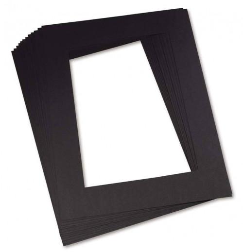 343207,  Pacon Pre-Cut Mat Frames, Black, 12x18