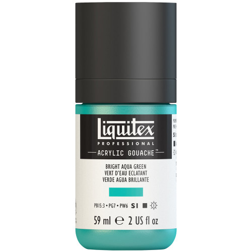 382735, Liquitex Acrylic Gouache, Bright Aqua Green, 2oz.