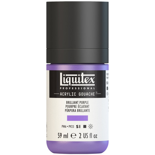 382736, Liquitex Acrylic Gouache, Brilliant Purple, 2oz.