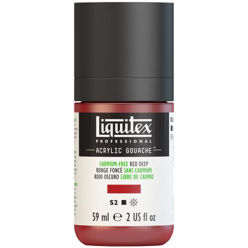 382740, Liquitex Acrylic Gouache, Cadmium-Free Red Deep, 2oz.