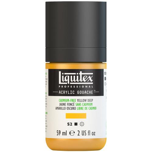 382743, Liquitex Acrylic Gouache, Cadmium-Free Yellow Deep, 2oz.