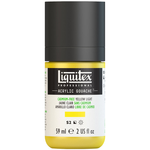 382744, Liquitex Acrylic Gouache, Cadmium-Free Yellow Light, 2oz.