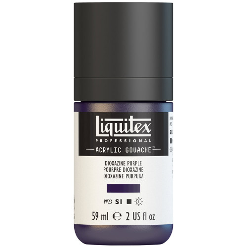 382747, Liquitex Acrylic Gouache, Dioxazine Purple, 2oz.