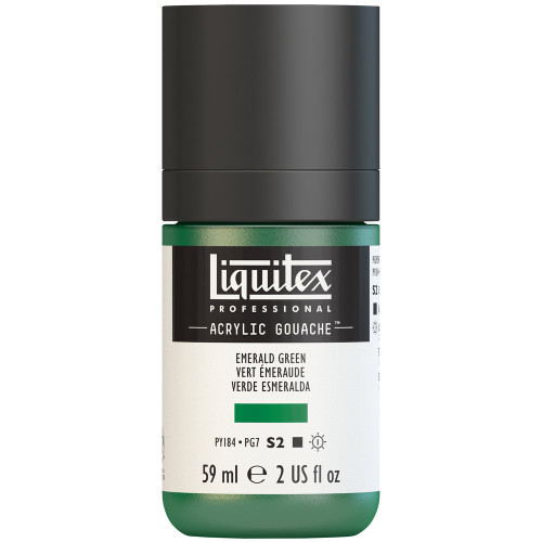 382748, Liquitex Acrylic Gouache, Emerald Green, 2oz.