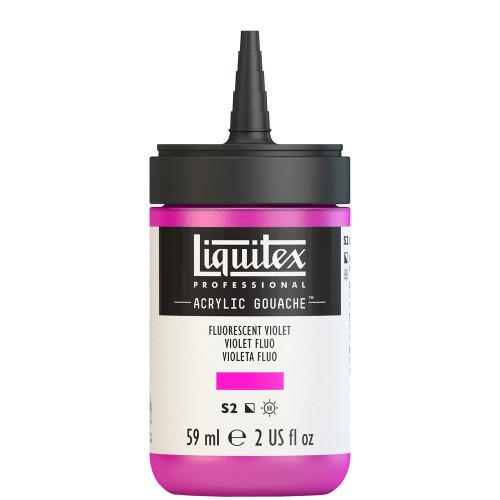 382753, Liquitex Acrylic Gouache, Fluorescent Violet, 2oz.
