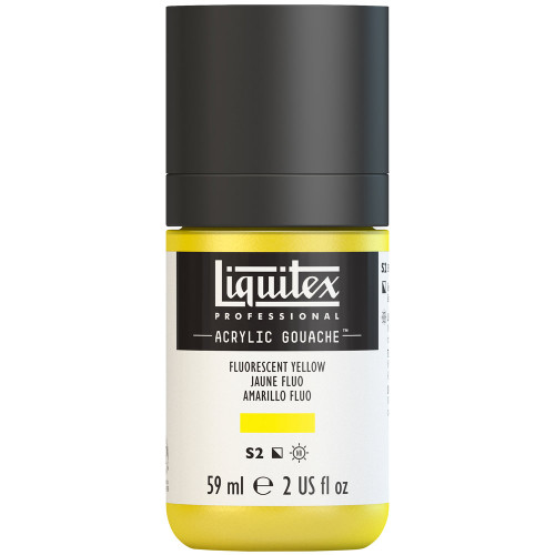 382754, Liquitex Acrylic Gouache, Fluorescent Yellow, 2oz.