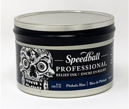 623942, Pro Relief Ink, 8oz    Phthalo Blue