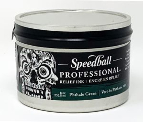 623944, Pro Relief Ink, 8oz    Phthalo Green