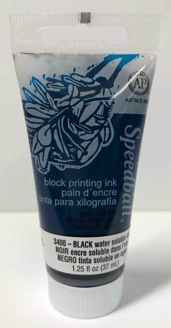623400, Water-Soluble Block Printing Ink, 1.25oz    Black