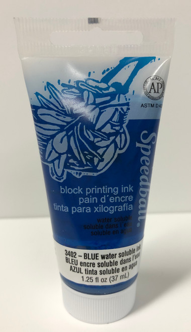 623402, Water-Soluble Block Printing Ink, 1.25oz    Blue