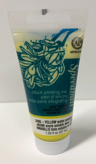 623405, Water-Soluble Block Printing Ink, 1.25oz    Yellow