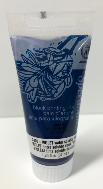 623408, Water-Soluble Block Printing Ink, 1.25oz    Violet