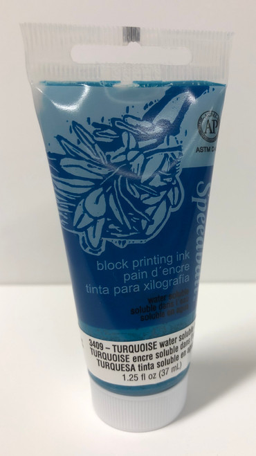 623409, Water-Soluble Block Printing Ink, 1.25oz    Turquoise
