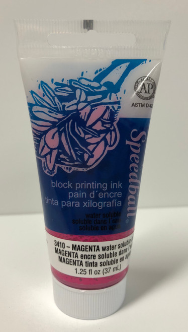 623410, Water-Soluble Block Printing Ink, 1.25oz    Magenta