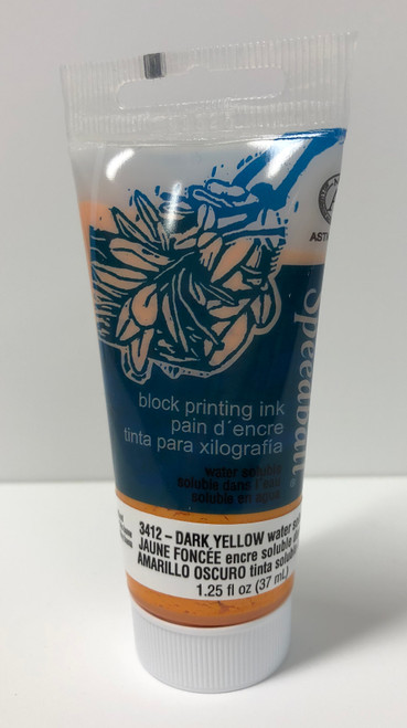 623412, Water-Soluble Block Printing Ink, 1.25oz    Dark Yellow
