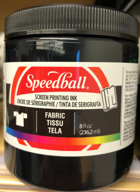 624560, Fabric Screen Printing Ink,  8oz.    Black